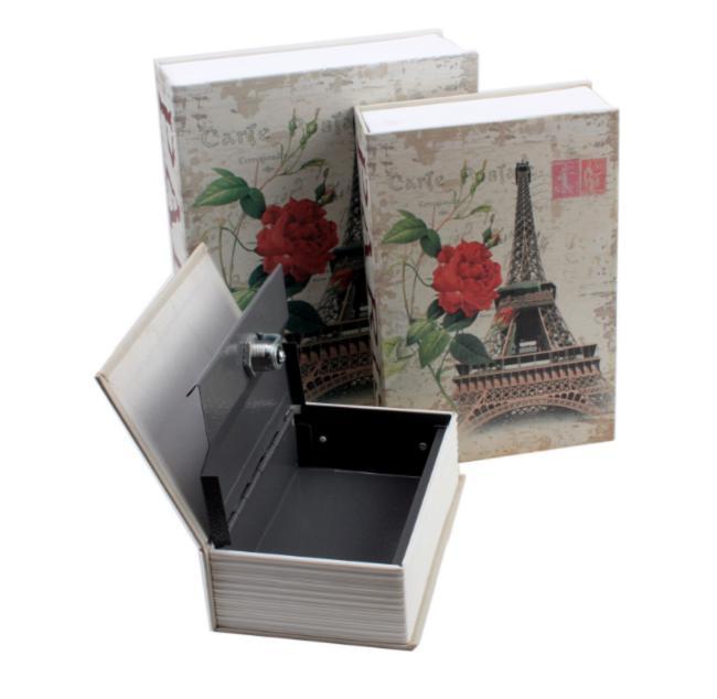 Két sắt mini giả sách Size Lớn - Khóa Chìa - Tháp EIFFTEL PARI