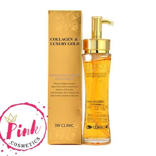 Hình ảnh Tinh Chất Trắng Da Collagen Luxury Gold 3W Clinic Hàn Quốc 150Ml