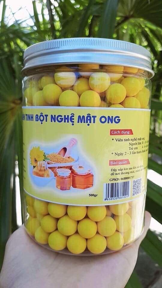 1kg (2 hộp) viên tinh nghệ chuẩn sịn mật ong rừng thơm dễ ăn