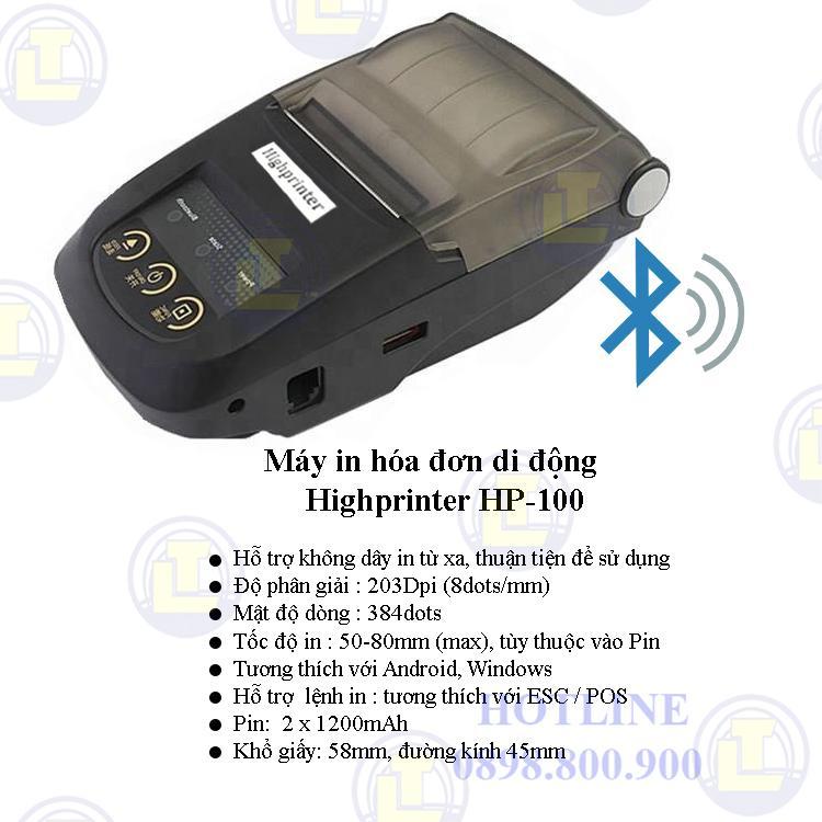 Máy in hóa đơn di động Highprinter HP-100