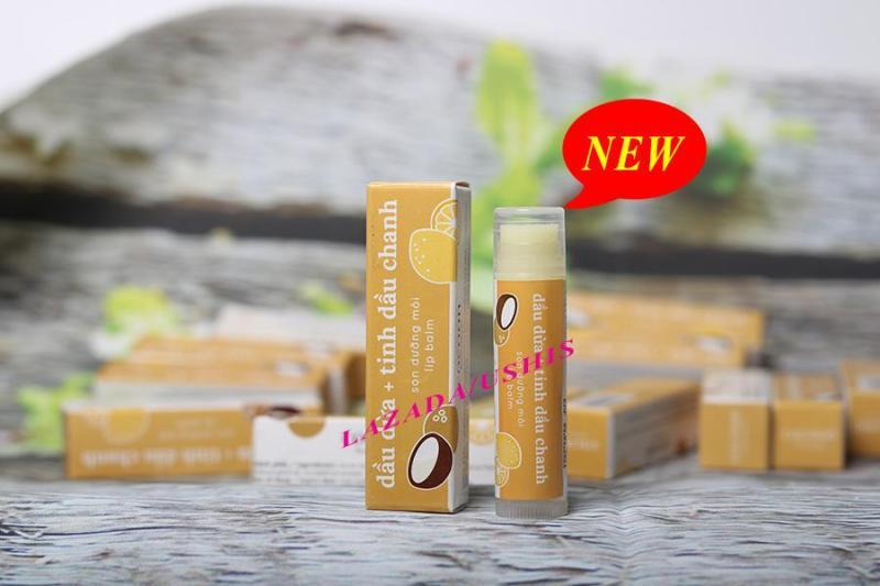 Son dưỡng môi dầu dừa chanh Lip Care Cocoon chăm sóc môi 5g cao cấp