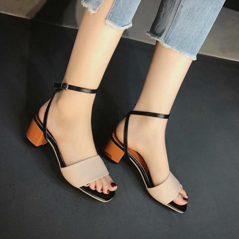 Giày nữ, giày sandal cao gót nữ gót sơn mẫu hot nhất hiện nay PinkShopGiayDep giá rẻ