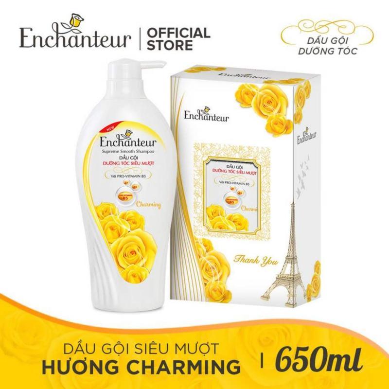 [Hộp Quà] Dầu Gội Dưỡng Tóc Siêu Mượt Enchanteur Charming 650g giá rẻ