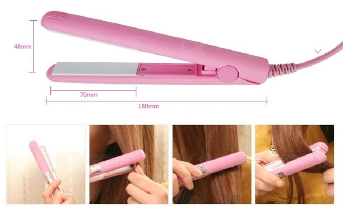 Máy duỗi tóc mini bỏ túi, loại không làm khô tóc
