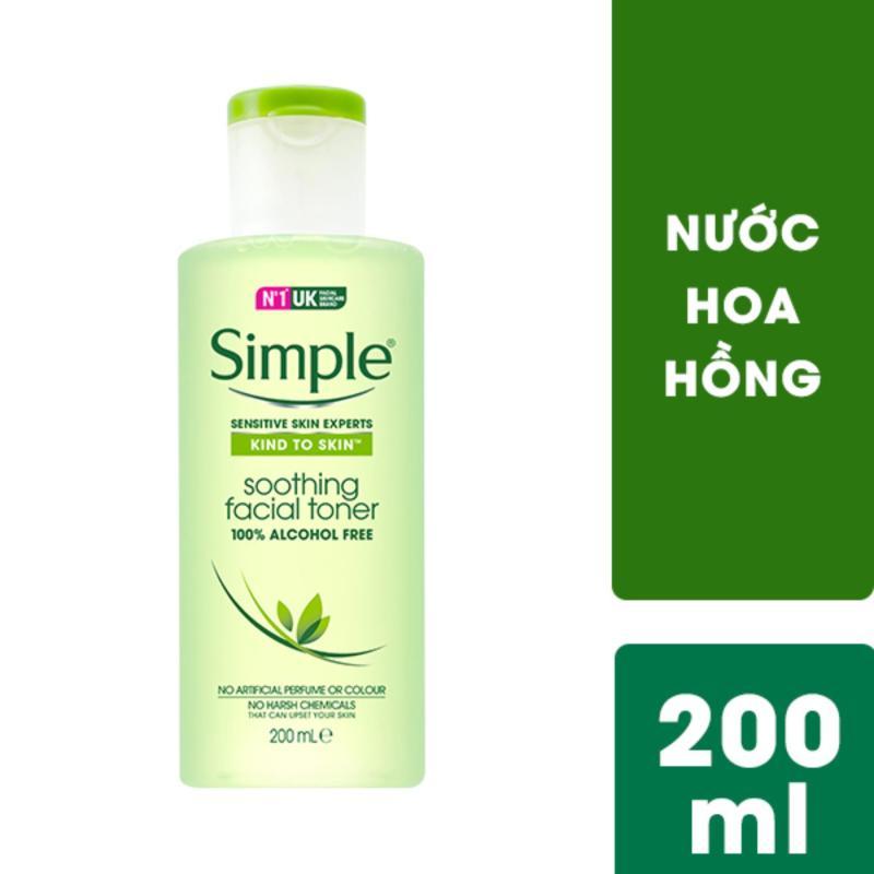 Nước hoa hồng cho da nhạy cảm Simple Soothing Facial 200ml nhập khẩu