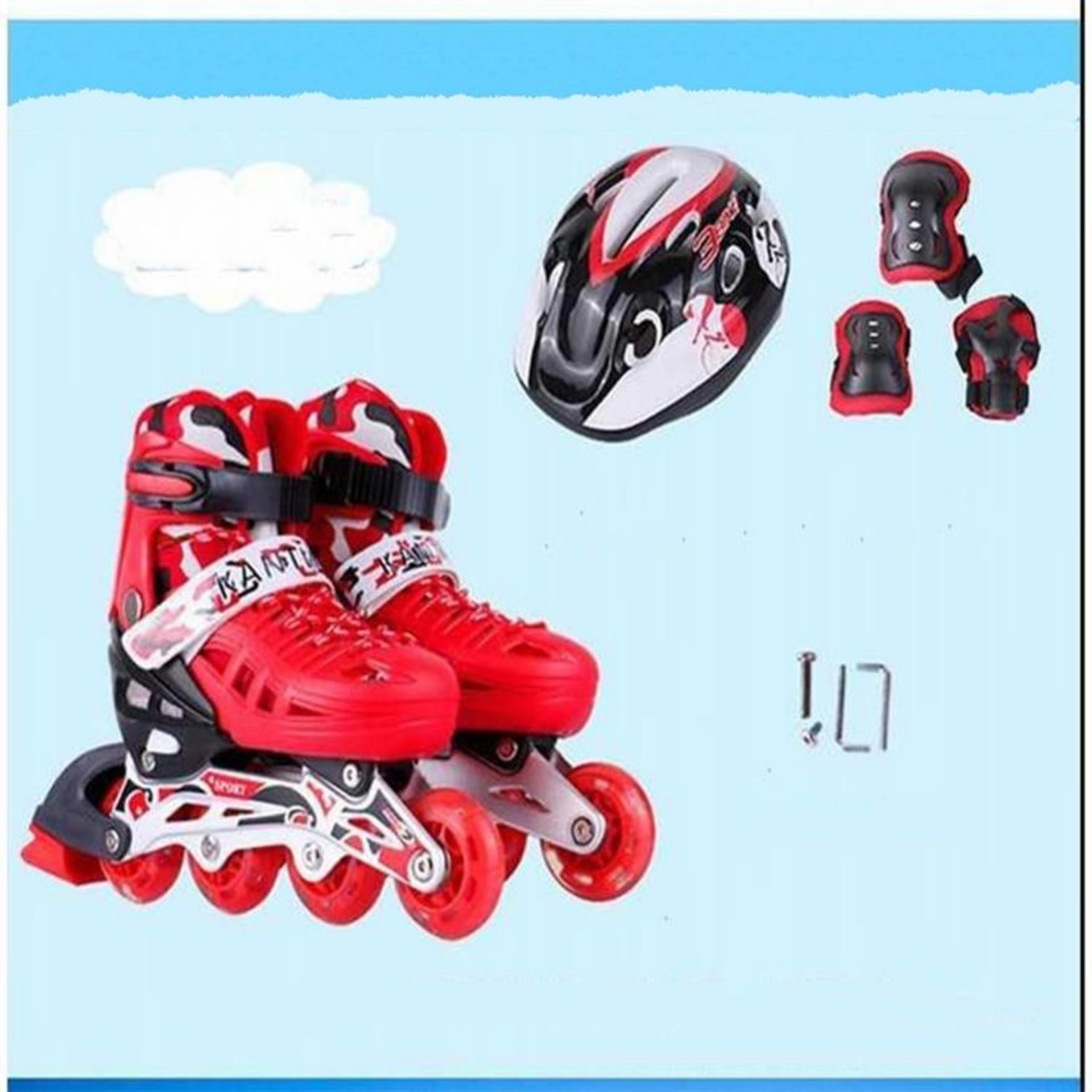 Giày Trẻ Em,Giày Patin,Giày Patin Trẻ Em Tặng Mũ Và Đồ Bảo Hộ,Thiết Kế Ôm Chân, Chắc Chắn, Kiểu Dáng Trẻ Trung Giúp Cho Người Chơi Cảm Giác Đôi Chân Thoải Mái Khi Trượt