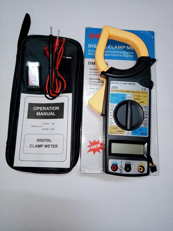 Đồng hồ Ampe kìm kẹp vạn năng  DT-266 kèm pin
