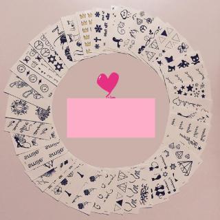 COMBO 100 TẤM HÌNH XĂM DÁN MINI CỰC HOT DÀNH CHO NỮ ( lông vũ + chữ + mèo + bướm + hoa + thiên thần + nhịp tim..... ) thumbnail