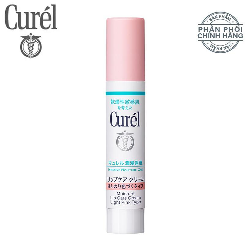 Son dưỡng môi cấp ẩm chuyên sâu Curél Intensive Moisture Care Moisture Lip Care Cream 4.2g nhập khẩu
