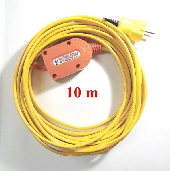 Bộ ổ cắm điện Sopoka chịu tải 3000W và 10m dây điện (Vàng)
