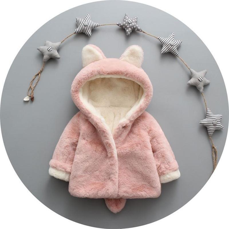 Hình ảnh Áo khoác lông tai thỏ cho bé , áo lông thời trang cho bé , áo lông giữ ấm tai thỏ cho bé siêu đáng yêu AK3 tại Shoptienich92