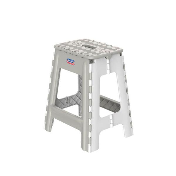 LAZDEAL - Ghế nhựa cao xếp Duy Tân kích thước 33.7 x 29.2 x 42.4 cm (L) có tay cầm để xách, mặt ghế rộng rãi, dễ sử dụng