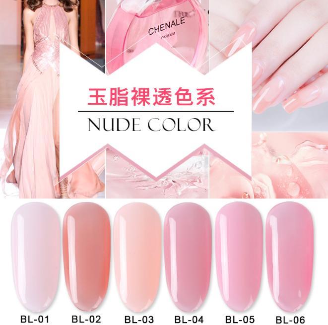 Set sơn móng gel AS hồng thạch nude 6 màu chai 15ml nhập khẩu