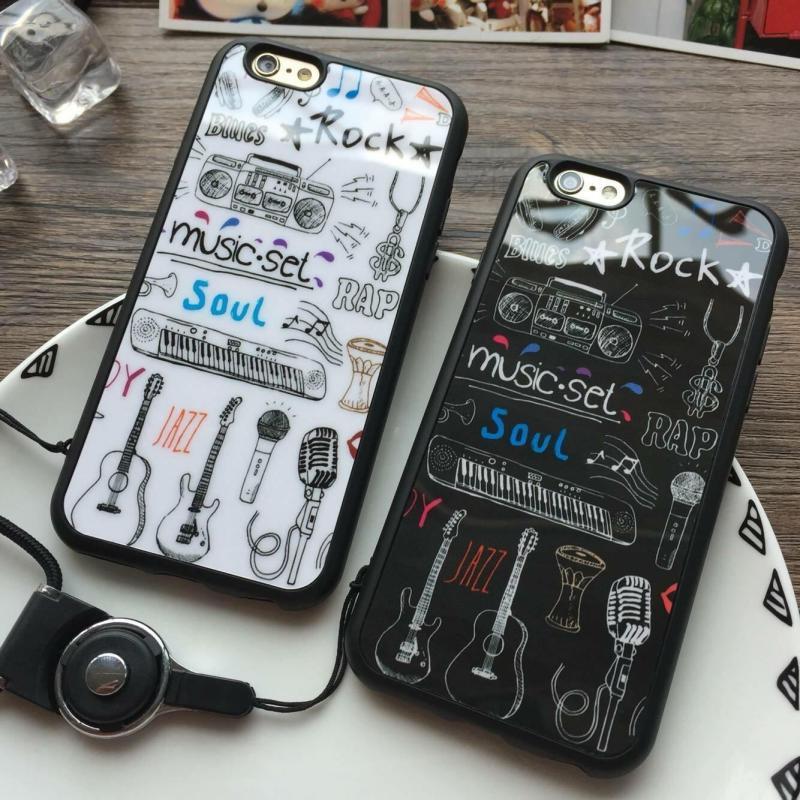 Giá Ốp Lưng Tráng Gương Nhạc Rock Dành Cho iPhone