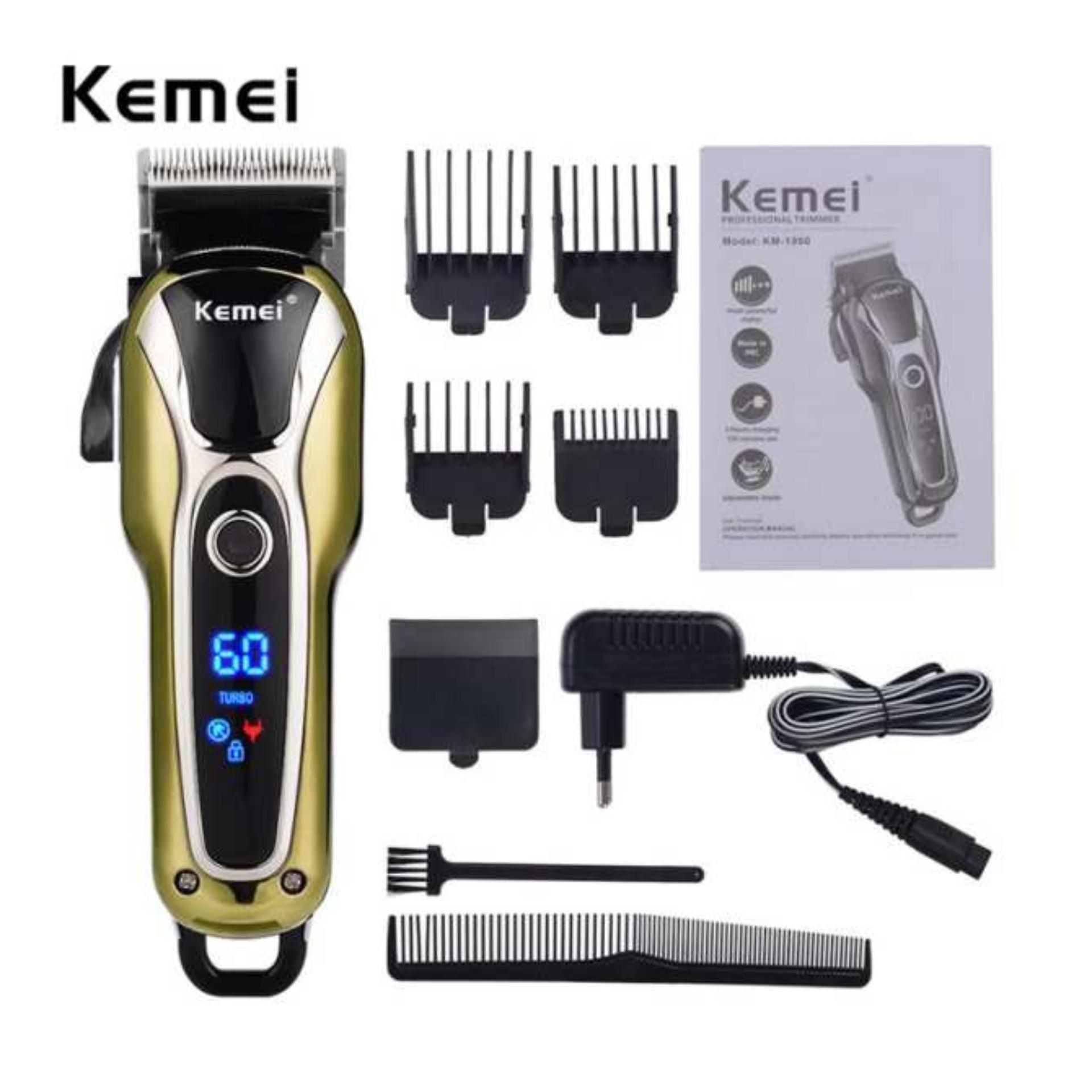 Tông đơ cắt tóc không dây chuyên nghiệp Kemei KM-1990 NEW 2018