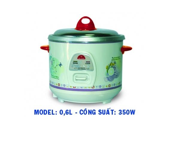 Nồi cơm điện Kim Cương nắp rời 0.6LB ( 0,6 lít - 350W )