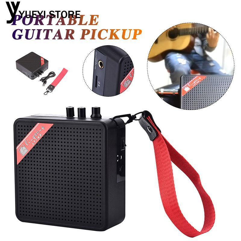 YYSL Music Instrument Guitar Loudspeaker 3.5mm Output SD Card Outdoors
