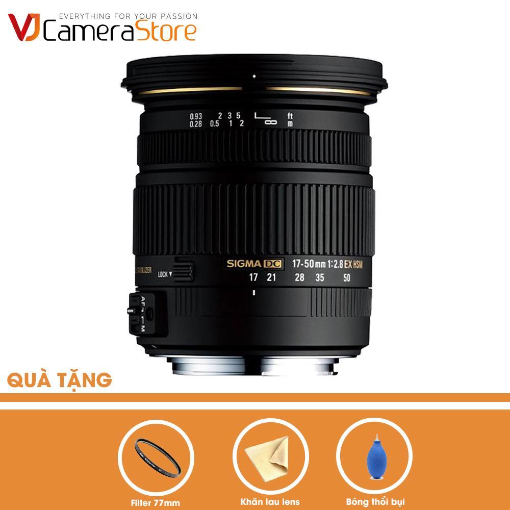 Coupon Khuyến Mãi Ống Kính SIGMA 17-50mm F2.8 EX DC OS HSM Cho Nikon (Đen) - Hàng Nhập Khẩu + Tặng Bóng Thổi + Khăn Da Cừu Lau Lens + Filter Kenko 77