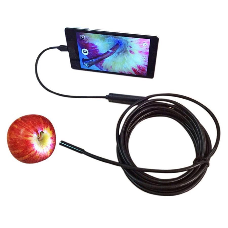 Hình ảnh Camera nội soi chống nước (IP67) 7mm dài 2m cho Máy tính và Điện thoại - Kmart