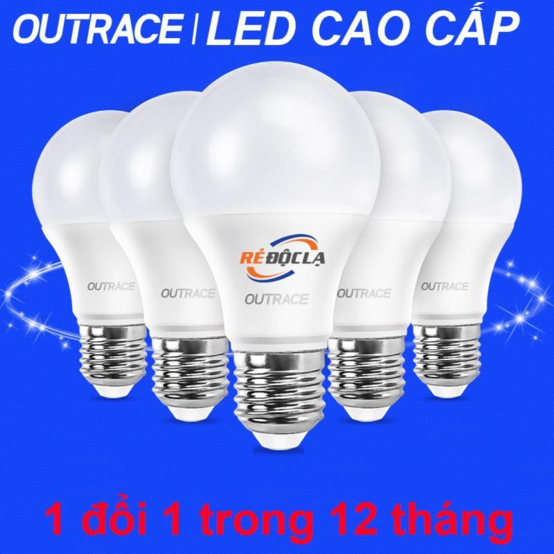 Bộ 5 bóng đèn Led bulb 3W Outrace ( Ánh sáng trắng) - Hàng Cao Cấp- LED SHOP