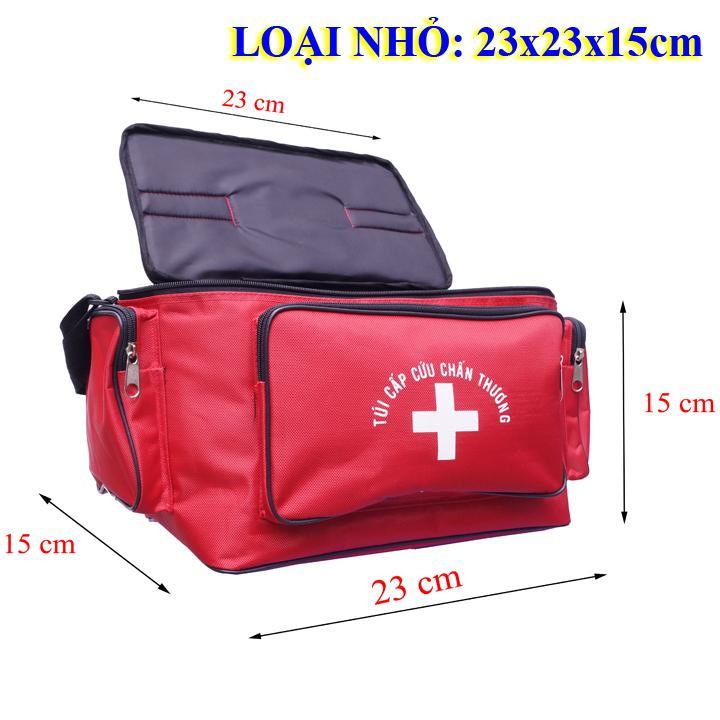 Túi cứu thương Đỏ Nhỏ: 23x15x15