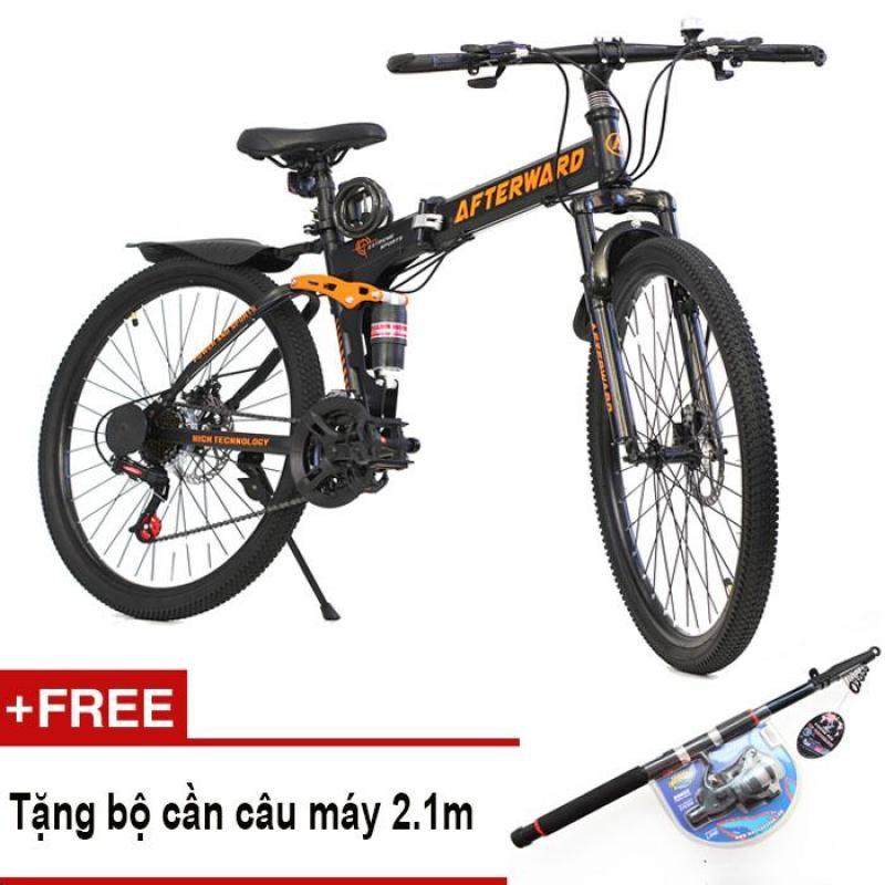 Phân phối Xe đạp gấp địa hình AfterWard MK94 + Tặng bộ cần câu máy 2.1m, bơm và khóa chống trộm