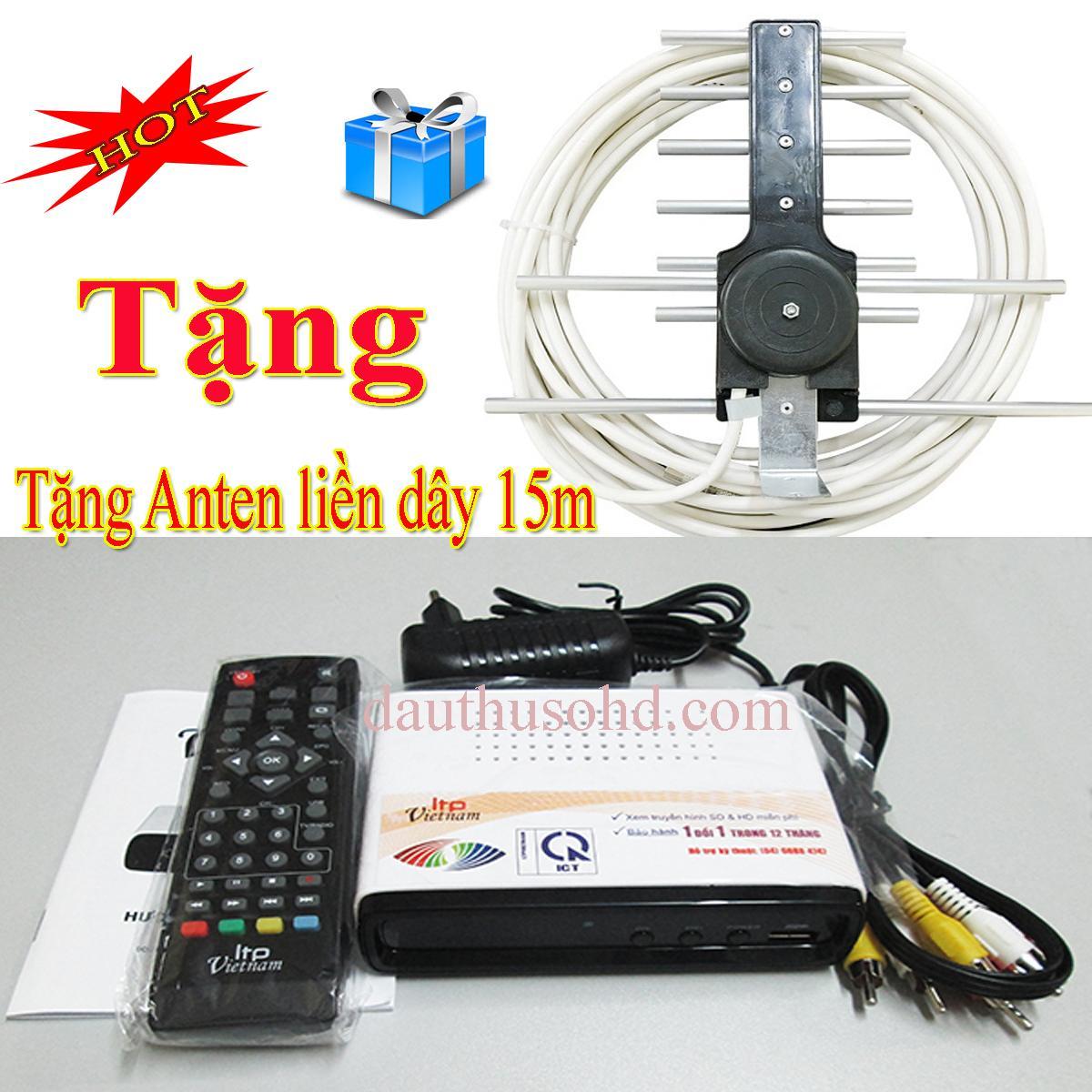 Hình ảnh Đầu thu kỹ thuật số DVB T2 LTP 1306 tặng anten liền dây 15m