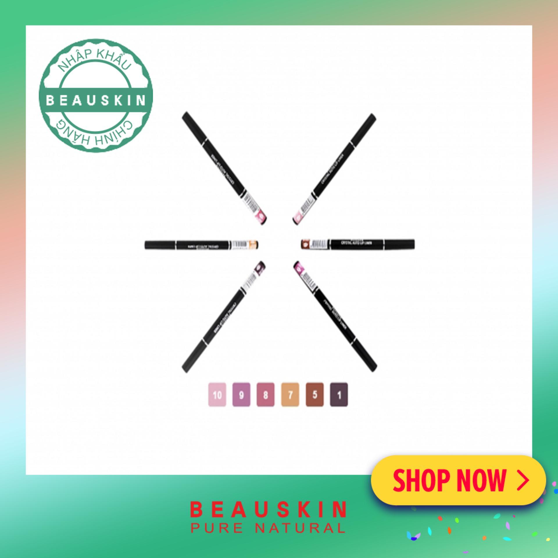 Chì vặn kẻ viền môi 2 đầu xinh xắn Beauskin Crystal Auto Lip Liner 1 Sexy Wine tốt nhất
