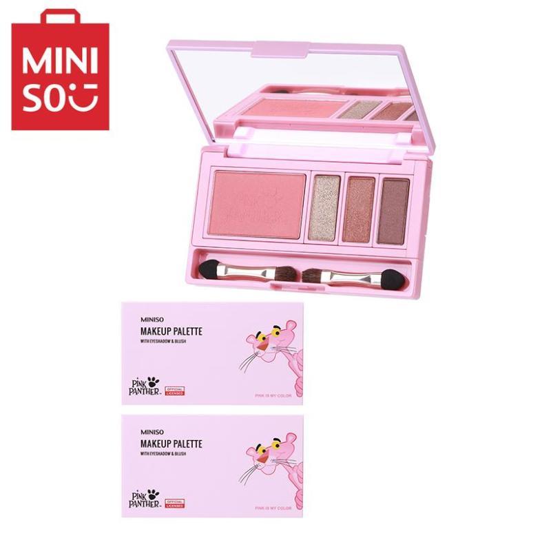 Phấn mắt và cọ Miniso Pink Panther ( 01 Broze girl ) cao cấp