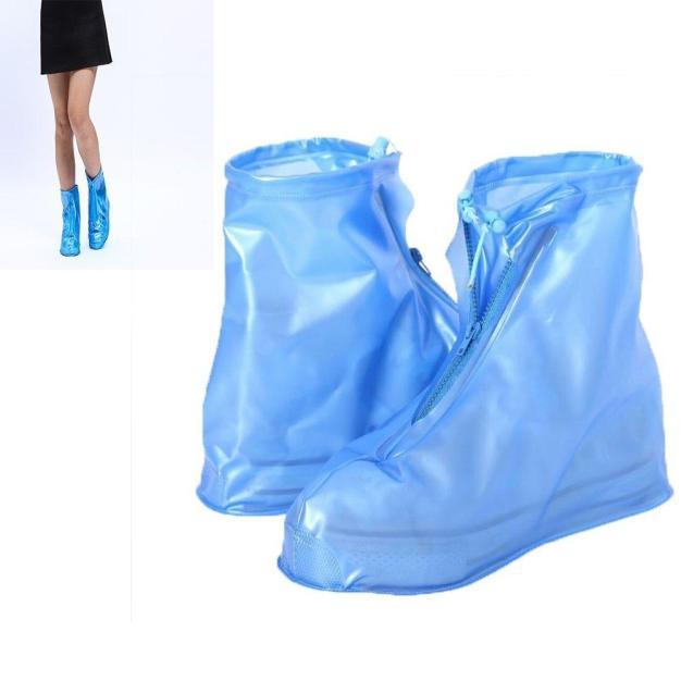 Bao Giày Đi Mưa - Áo Mưa Bọc Giày Dép Thời Trang Bằng Cao Su – 100% Khô Ráo Dù Mưa Bão Màu Xanh giá rẻ