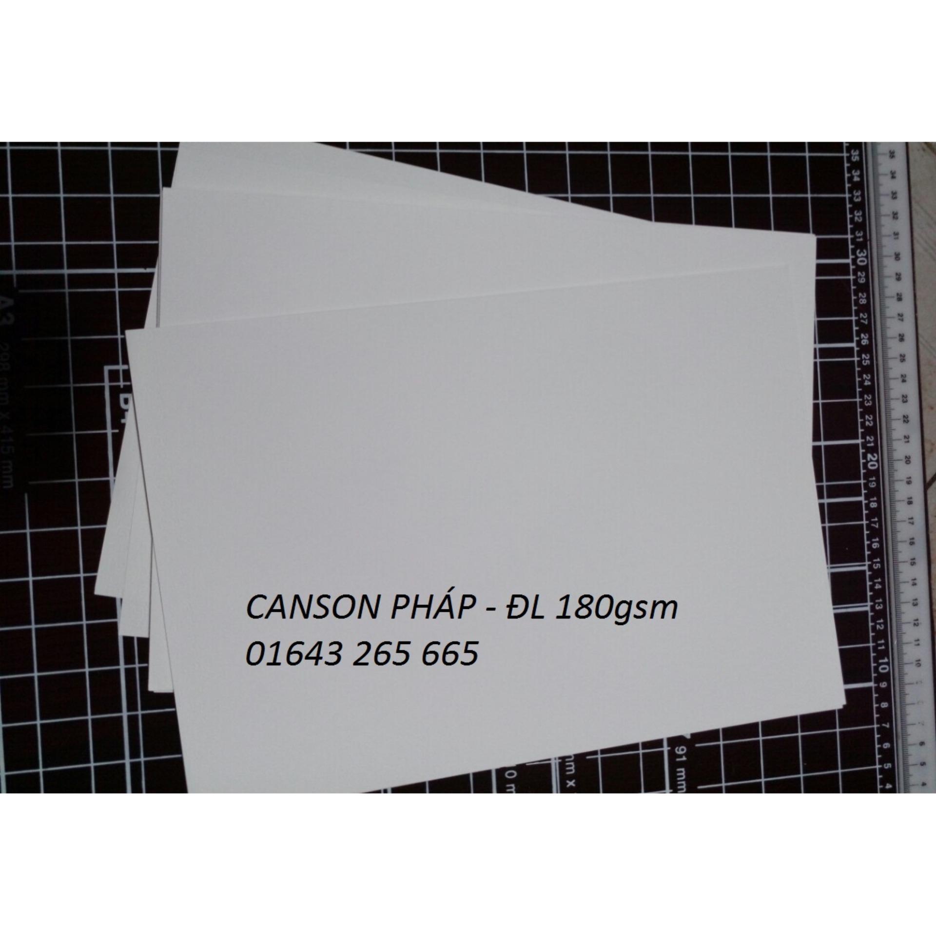 Mua Giấy Canson Pháp định lượng 180gsm (20 tờ A4)