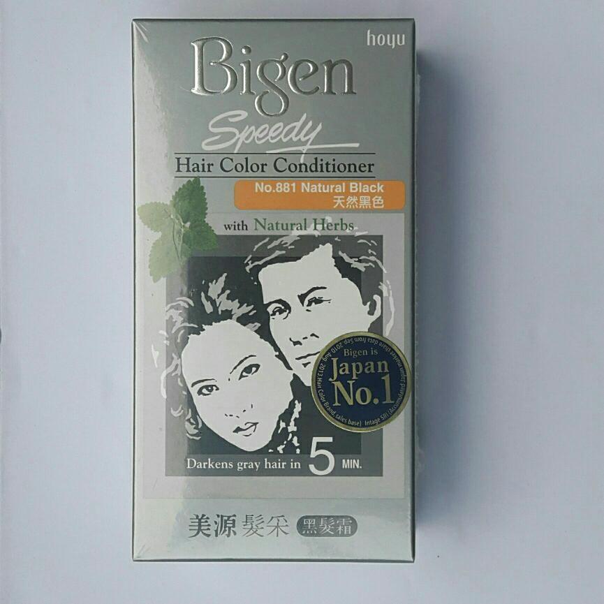Chiết Khấu Sản Phẩm Thuốc Nhuộm Bigen Natural Black Đen 881 Japan Hang Chinh Hang
