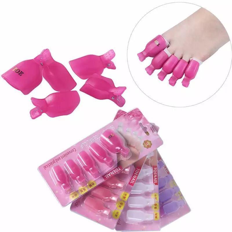 Kep chân ủ móng tháo gel , Ủ tháo móng chân (10 cái)