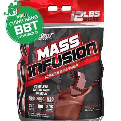 Thực phẩm chức năng tăng cân Nutrex Mass infusion + bình lắc THOL nhập khẩu