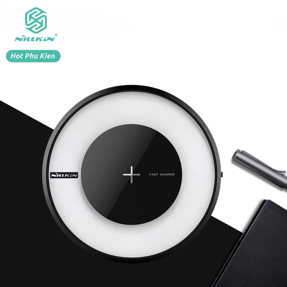 Đế sạc không dây hỗ trợ sạc nhanh chuẩn Qi quốc tế Hiệu Nillkin Magic Disk thế hệ thứ 4 có chế độ thay đổi màu sắc anh sáng