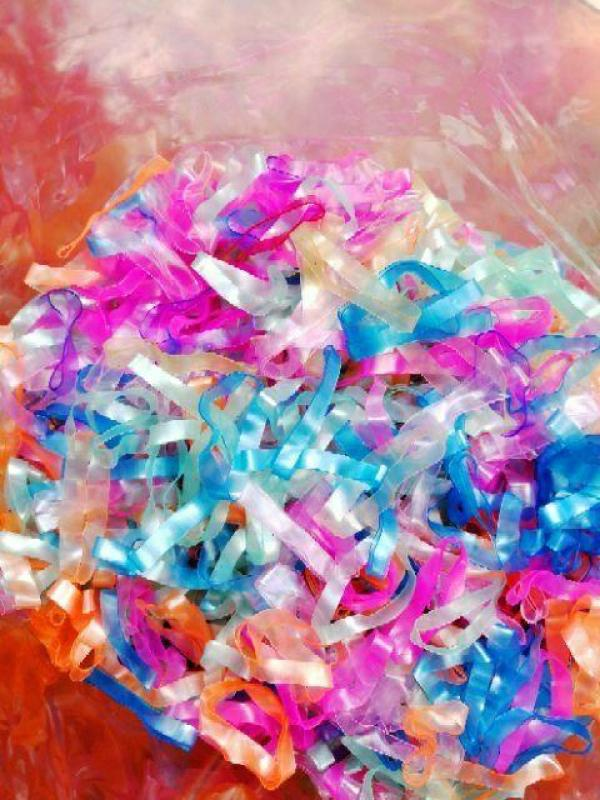 Túi 100 gram thun cột tóc sợi to đủ màu nhập khẩu