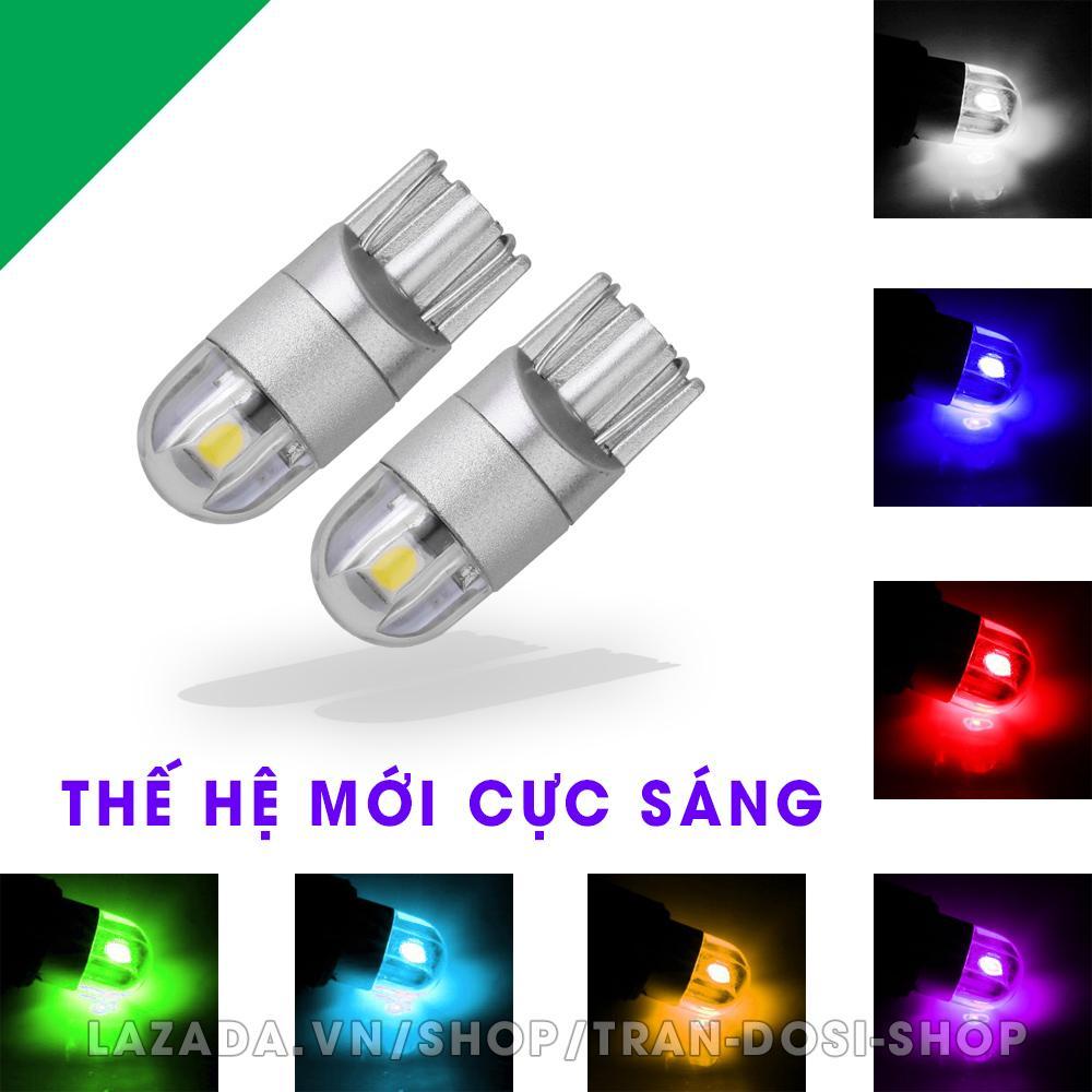 Giảm Giá Quá Đã Phải Mua Ngay Cặp (02 Bóng) đèn LED Demi, Xi Nhan T10 2SMD 3030 Siêu Sáng