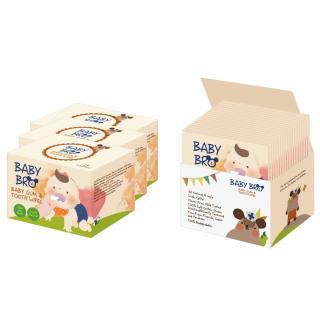 Bộ 4 hộp 25 khăn ướt lau răng miệng, rơ lưỡi cho bé BaBy Bro Made in Korea thumbnail