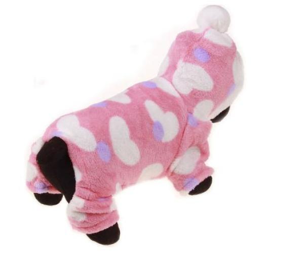 áo chó mèo cao cấp kiểu áo liền quần bông size m ( dành cho chó mèo 3 - 5 kg )