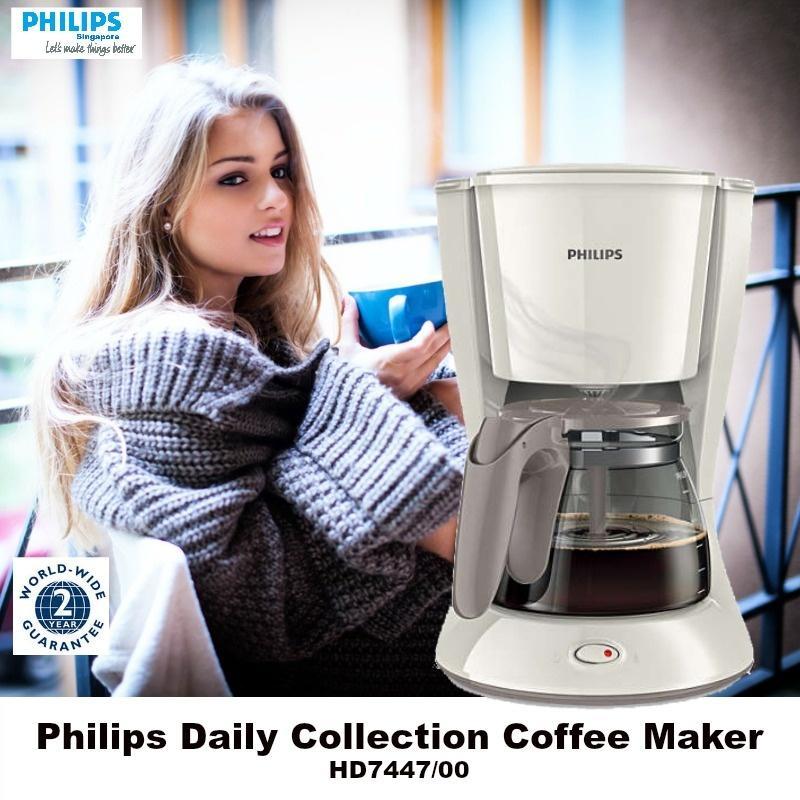 Máy pha cà phê Philips HD7447 1.2l (Trắng)