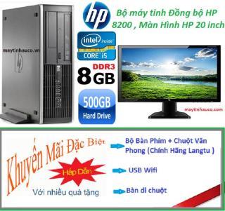 [Trả góp 0%]Bộ Máy tính đồng bộ HP Elite 8200 ( core i5 2400 8G 500G ) Màn hình HP 19.5 inch Wide - LED Tặng Bộ Bàn phím USB Wifi Bàn di chuột - Bảo hành 24 tháng thumbnail