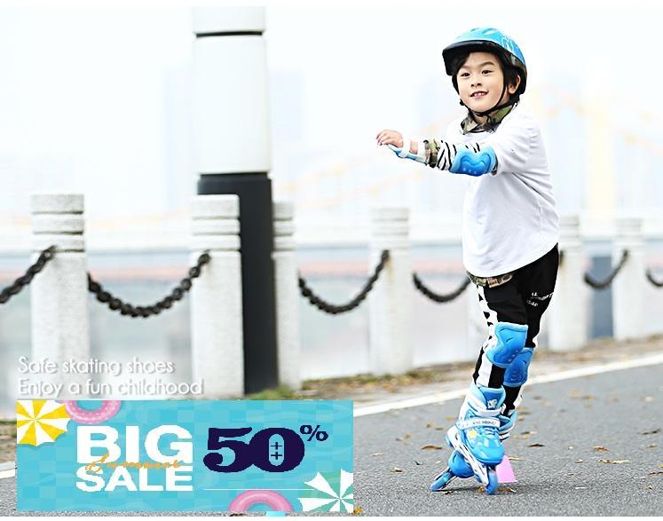 Giá bán Giay batin 4 banh , Giầy trượt patin cho trẻ em giá rẻ -Đặt mua ngay giày trượt Patin 4 bánh phát sáng, cực ký chắc chắn cho trẻ tăng cường vận động - Tặng kèm bộ bảo hộ siêu cute - Bh uy tín 1 đổi 1 bởi THE-LIGHT