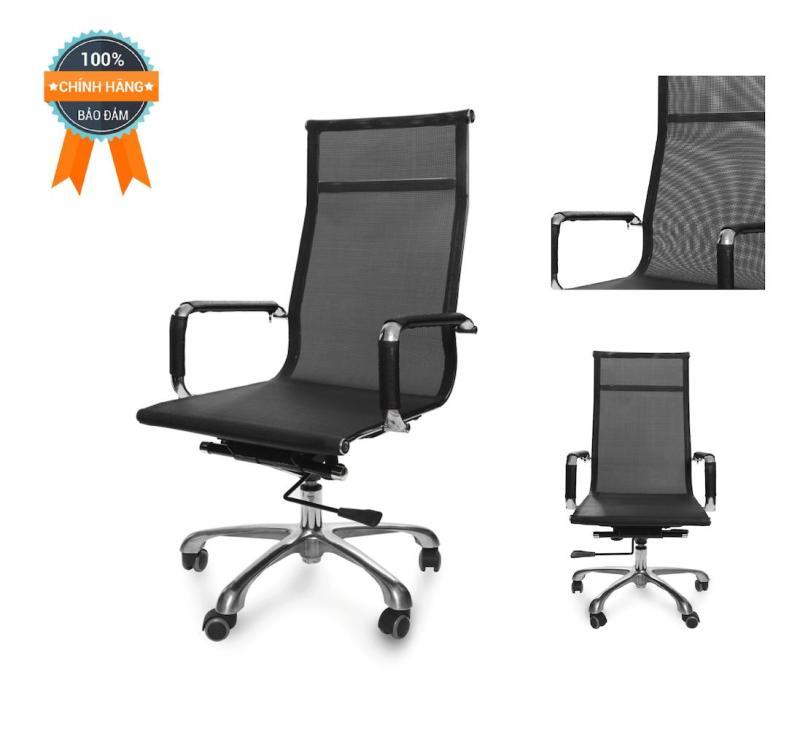 Ghế lưới văn phòng lưng cao MNHC-20130-M1 (Đen) giá rẻ