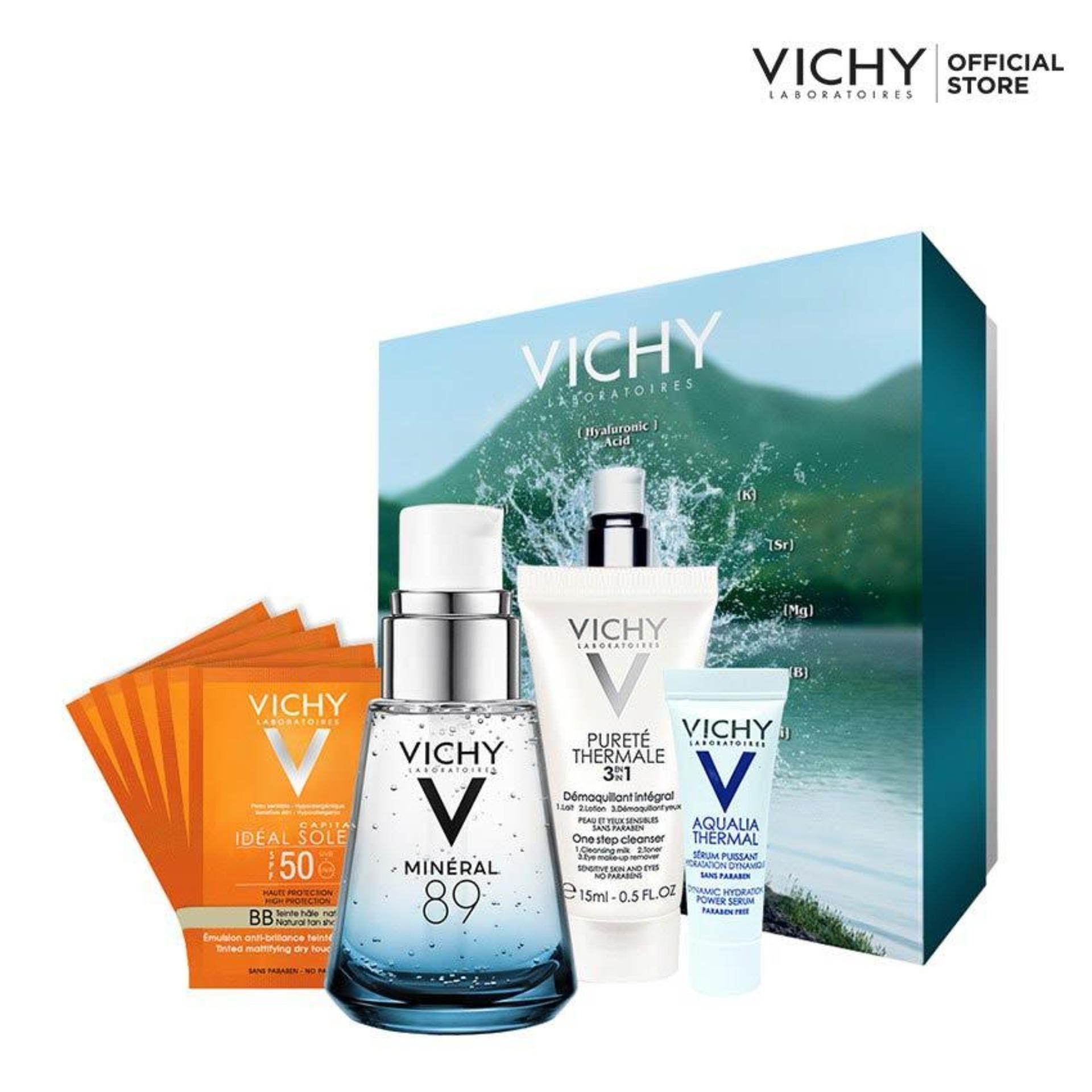 Hình ảnh Bộ dưỡng chất khoáng cô đặc Vichy Mineral 89 30ML giúp phục hồi và nuôi dưỡng cho làn da căng mịn