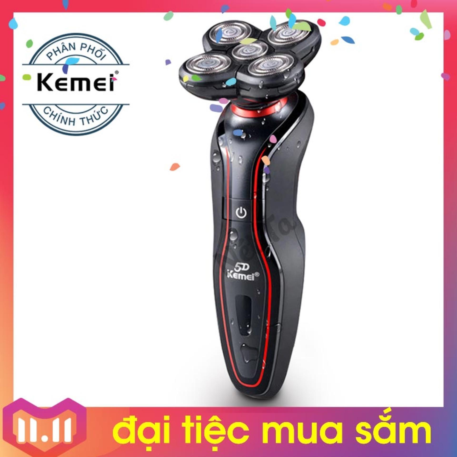 Máy cạo râu 5D cao cấp Kemei KM-6181 - Hãng phân phối chính thức