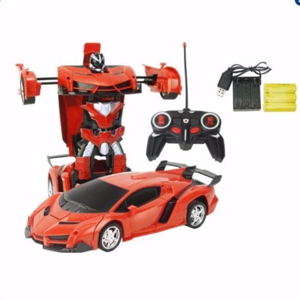 Đồ Chơi O To Biến Hinh Thanh Robot Transformers Điều Khiển Từ Xa Dung Pin Sạc Rẻ