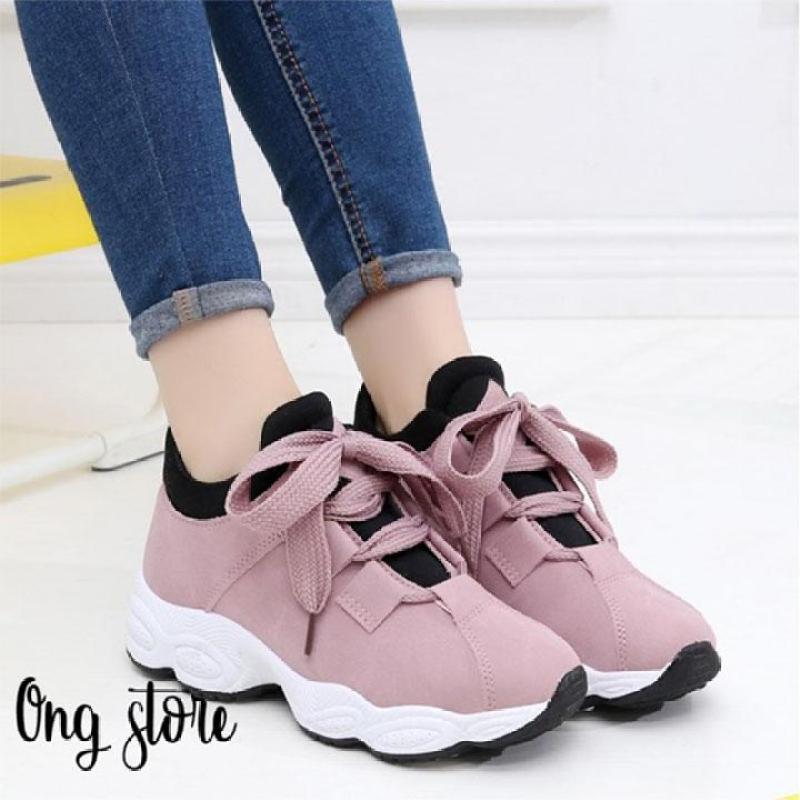 (dây to) Giày thể thao nữ giày sneaker nữ đế sóng hot 2018