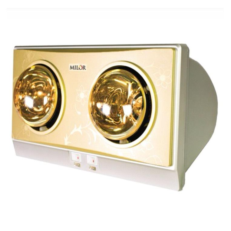 Hình ảnh Đèn sưởi phòng tắm 2 bóng màu vàng Milor ML 6002
