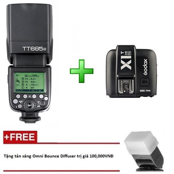 Giá Đèn Flash Godox TT685 N Cho Nikon kèm Trigger Godox X1 tích hợp TTL, HSS 1/8000s - Tặng tản sáng Omni bouce