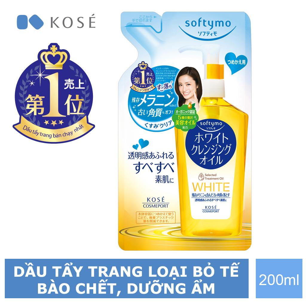 Dầu Tẩy Trang Kosé Cosmeport Softymo White Cleansing Oil Refill 200ml